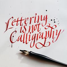 Calligraphy practice Enisaurus alias Santiago... • typostrate - the typography and design blog