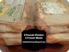 Make 5 freezer meals