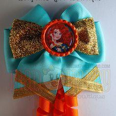 'brave' bow - light dress w/ bottlecap