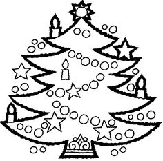 Present these Christmas Tree Coloring Pages to your kids
