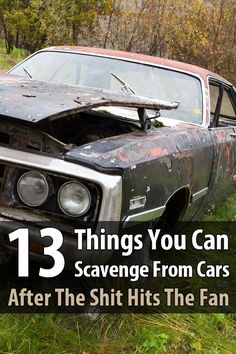 If you're anywhere near a city when the SHTF, you'll come across thousands of vehicles that are full of useful survival items you can scavenge. via @urbanalan