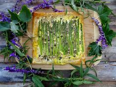 Asparagus and Pine Nut Tart from The Forest Feast by ...a quiet life...