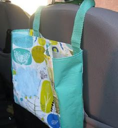 Car Garbage Bag - I love this.  :) lots of other sewing ideas as well