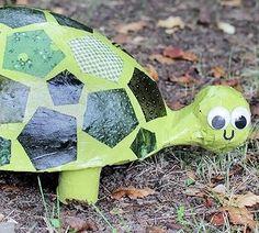 Como Fazer Tartaruga com Material Reaproveitado   Reciclagem no Meio Ambiente