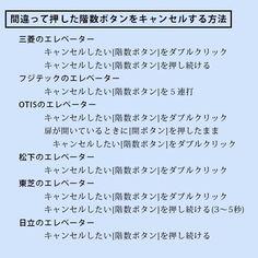 ねたたま : メーカー別エレベーターボタンキャンセル方法(今日のランダム画像) - ライブドアブログ