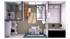 Home decor apartment Small Apartment Layout, Studio Apartment Layout, Studio Layout, Studio Apartment Decorating, Apartment Interior, Apartment Design, Micro Apartment, Small Appartment, Sims House Plans