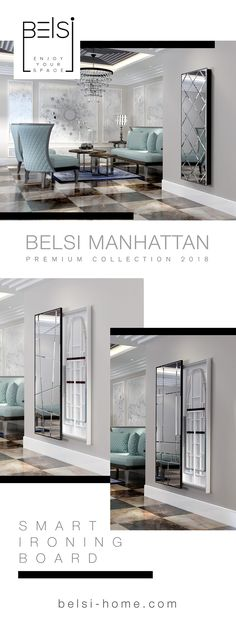 BELSI Manhattan - smart ironing board collection 2018 Ironing Boards, Iron Board, Manhattan, Floor Plans, Furniture, Collection, Home, Beige, Iron For Clothes