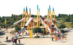 Playground in Germany. Look at all the slides!