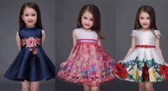 La primavera es la ocasión perfecta para que tu pequeña luzca como toda una princesa con estos vestidos florales.