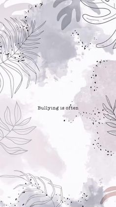 Projection? #floral #wallpaper #speakoutonbullying