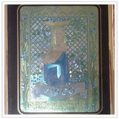 Virgo holorgam foil art print framed by VioletnDaisyVintage, $30.00