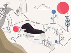 Em suas ilustrações, Timo Kuilder cria figuras elegantes e coloridas, além de utilizar gradientes suaves para adicionar a ideia de textura e profundidade.