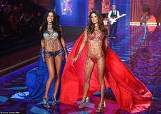 Alessandra Ambrosio & Adriana Lima lead the way at Victoria's Secret #dailymail