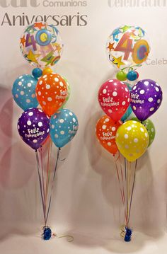 www.globofiesta.com Preparando un 40 #cumpleaños con los fantásticos #globos #qualatex
