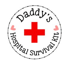 """Put together a small """"hospital survival kit""""  for the daddy-to-be - a great list of things to include in daddy's hospital bag!  (includes a free printable label!)"""