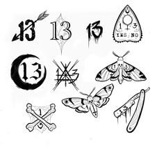 "Jo Black (@missjoblacktattoos) no Instagram: ""Little 13's for today """