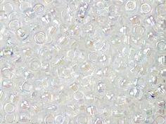 Miyuki 6/0 Round Seed Beads -  Crystal AB 22g Vial