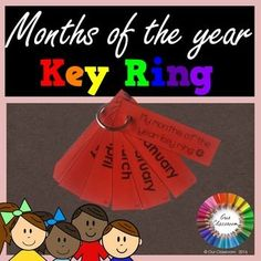 Freebie - Months of the year key ring! Learn the months of the year in a different, fun and engaging way by using a key ring