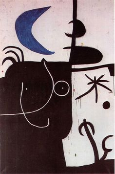 Joan Miró, Woman before the luna  on ArtStack #joan-miro #art