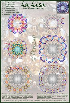 A pattern for a pendant or a ring Lisa | Beads Magic