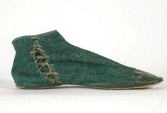 Damask gaiter boots, c.1830