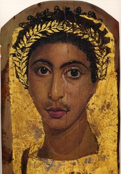 Fayum mummy portrait fragment