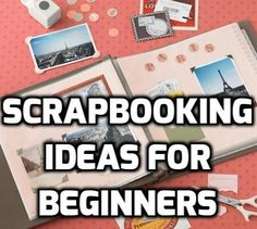 Scrapbooking Ideas For Beginners - PLEASE PIN - we go over great ideas to get yo. - Scrapbook ideas for beginners - Paper Bag Scrapbook, Scrapbook Supplies, Scrapbook Cards, How To Make Scrapbook, Scrapbook Quotes, Scrapbook Titles, Scrapbook Templates, Craft Supplies, Study Tips