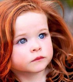 ginger baby. i wish my kid would look like this.