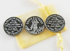 Set of 3 Saint Florian Patron of Fire Fighters by CourageInStone
