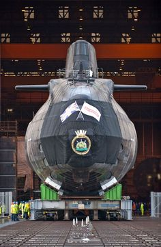 Super nuclear submarine - HMS Ambush, the second of the Royal Navy's new nuclear-powered 7,400 tonne Astute Class attack submarine, that is more complex engineering project than the space shuttle