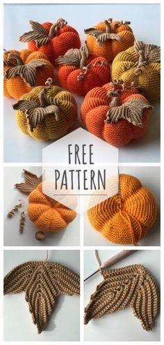 Diy Crochet, Crochet Crafts, Crochet Projects, Crochet Ideas, Crochet Pumpkin Pattern, Halloween Crochet Patterns, Holiday Crochet, Autumn Crochet, Crochet Decoration