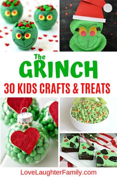 Grinch Crafts - SignUpGenius - Grinch Crafts 30 of the best The Grinch crafts and treat for kids to make this Christmas. The Grinch Crafts for kids. The grinch Christmas crafts and food. Preschool Christmas Crafts, Christmas Crafts For Kids To Make, Christmas Activities For Kids, Diy Christmas Gifts, Kids Christmas, Holiday Crafts, Kids Crafts, Christmas Traditions For Families, Xmas Games
