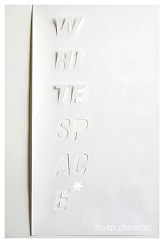 White Space poster, by Tom Davie of studiotwentysix2