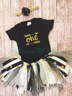 A personal favorite from my Etsy shop https://www.etsy.com/listing/260103789/first-birthday-outfit-girlbirthday