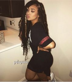Ought to-try Braided Hairstyles Faux Locs Hairstyles, My Hairstyle, Protective Hairstyles, Protective Styles, Hairstyle Ideas, Hair Ideas, Black Girl Braids, Girls Braids, Black Girls Hairstyles