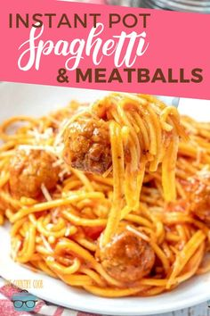 Low Carb Recipes To The Prism Weight Reduction Program It Only Takes 5 Ingredients To Make This Easy Instant Pot Spaghetti And Meatballs A Delicious Dinner Will Be Ready In 30 Minutes Instant Pot Pressure Cooker, Pressure Cooker Recipes, Pressure Cooking, Slow Cooker, No Carb Recipes, Cooking Recipes, Steak Recipes, Pasta Recipes, Instant Pot Pasta Recipe