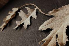 burlap dipped leaf garland by Craftberry Bush