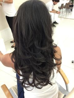 med to haircuts 40 ideas for black ombre hair brown 4999