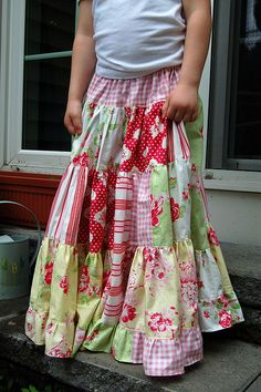 Maxi skirt for a little girl - Can't wait to make these for my future children!