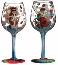 749a8cb73242  Hippie Chics  Wine Glass by 95   Sunny- Groovy! Let s Get the Groove Going  with the New Hippie Chics Hand Painted Wine Glass from the Bottoms Up  Collection ...