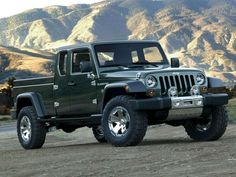 Jeep Pickup Truck...not too sure about this design?  I like the AEV Brute Double Cab better.