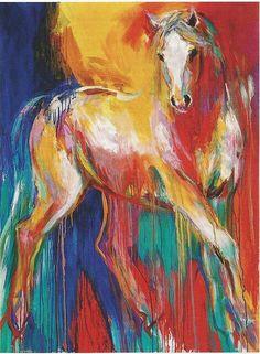 Paint drip horse
