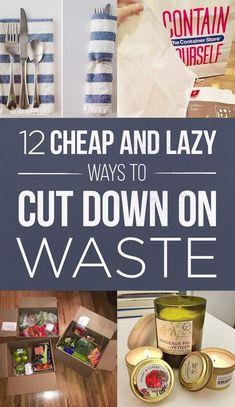 12 cheap ways cut down on waste