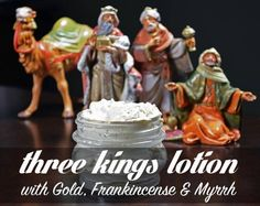 DIY Homemade Three Kings Lotion - This three kings lotion recipe uses natural coconut oil and olive oil with emulsifying wax and gold mica, frankincense and myrrh essential oils. Kids love this at Christmas! Natural Coconut Oil, Coconut Oil For Skin, Diy Lotion, Lotion Bars, Myrrh Essential Oil, Wellness Mama, Natural Beauty Recipes, Homemade Beauty Products, The Balm