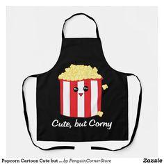 Popcorn Cartoon Cute but Corny Apron