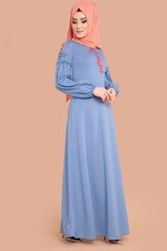 ** YENİ ÜRÜN ** Nakışlı Tesettür Elbise Bebe Mavi Ürün kodu : MDP5093 --> 64.90 TL