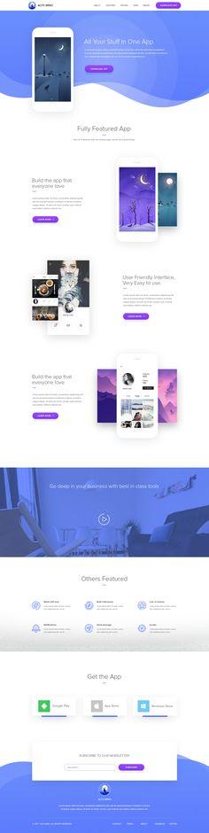 Landing Page Design for Mobile App
