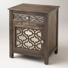 Moroccan pattern elegant nightstand with ornaments