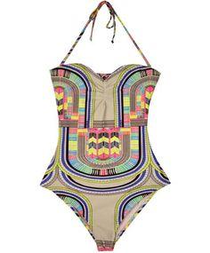 mara hoffman electric braided one piece bathing suit