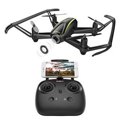 DROCON WiFi FPV Quadcopter Drone with HD Camera 120 Degree WideAngle Altitude Hold Headless Mode One Button Take OffLandingEmergency Stop All Included for Beginners *** More info could be found at the image url-affiliate link. Drone With Hd Camera, Video Camera, Drone Quadcopter, Drones, Mavic, Technology Gadgets, Cell Phone Accessories, Wifi, Ebay